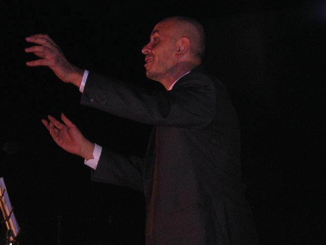 Paolo Bussagli in una scena dello spettacolo